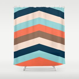 Kings River Sunset Shower Curtain