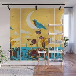 CITY BIRD Wall Mural