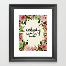 Wonderfully Made Framed Art Print
