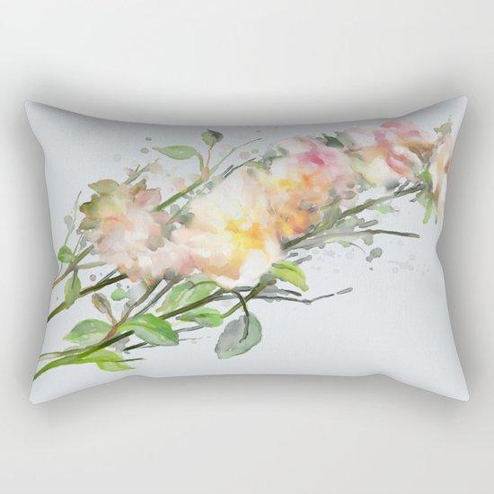 Wild roses, watencolors Rectangular Pillow