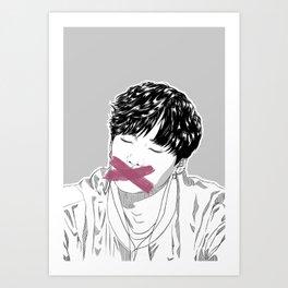 BTS SUGA (Min YoonGi) | Silence Art Print
