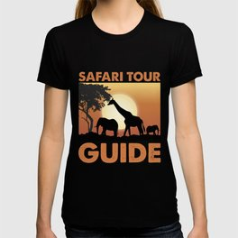 Safari Tour Guide Wild African Animal T-shirt
