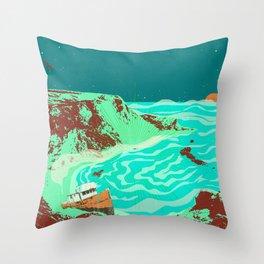 PHANTOM SHORE Throw Pillow