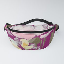 tulips on plum Fanny Pack