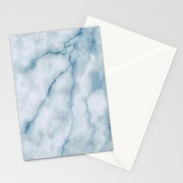 Light blue marble texture Stationery Cards