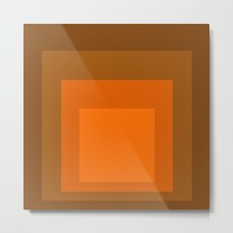 Block Colors - Orange Metal Print