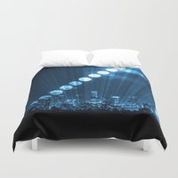 moonrise Duvet Covers featuring moonrise  by yahtz designs