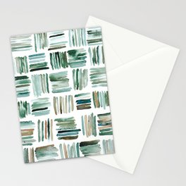 Muted Matchsticks Abstract Watercolor Painting Stationery Cards
