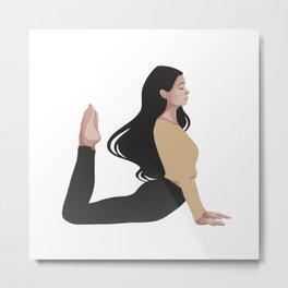 Yoga girl yellow II Metal Print