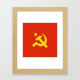 Communist Hammer & Sickle & Star Framed Art Print