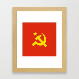 Communist Hammer & Sickle & Star Framed Art Print