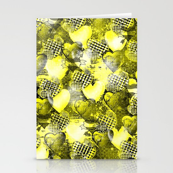 Light Bulb Hearts Series (yellow) Stationery Cards