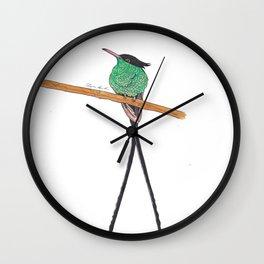 Jamaican Long Tail Humming Bird Wall Clock