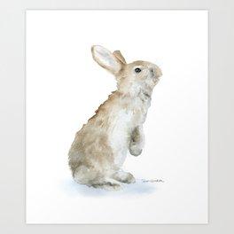 Bunny Rabbit Watercolor Art Print