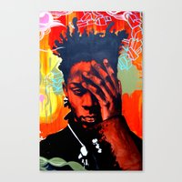 basquiat Canvas Prints featuring Basquiat  by jack shaftoe