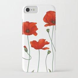 Poppy Stems iPhone Case