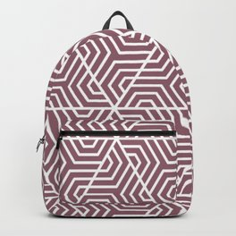Raspberry glace - violet - Geometric Seamless Triangles Pattern Backpack