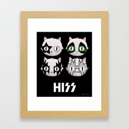 Hiss Cats - Makeup to Breakup Framed Art Print