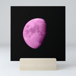 4K Dark Side of the Moon Fuchsia Mini Art Print