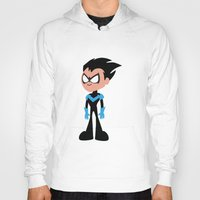 nightwing Hoodies featuring Nightwing by Adrian Mentus