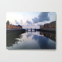 Donostia Reflections Metal Print