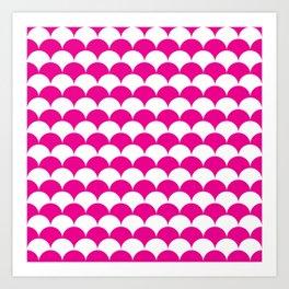 Pink Clamshell Pattern Art Print