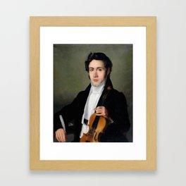 Portait of young Niccolò Paganini Framed Art Print