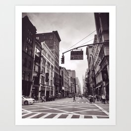 Cross Walk Art Print