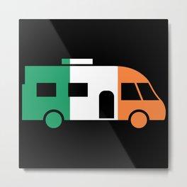 Modern Motorhome Irish Gift for Camper Metal Print