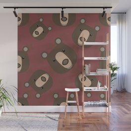 Pattern with bear Wall Mural