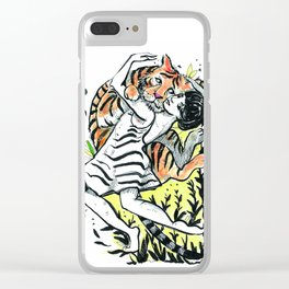 The Tiger Whisperer Clear iPhone Case