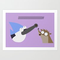 regular show Art Prints featuring regular show by tukylampkin