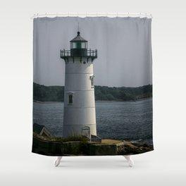 Portsmouth Harbor Lighthouse Shower Curtain