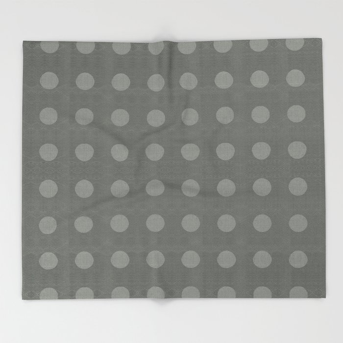 """Dots Elephant Grey"" Throw Blanket"