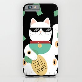 Maneki Neko - The Asian Lucky Cat iPhone Case