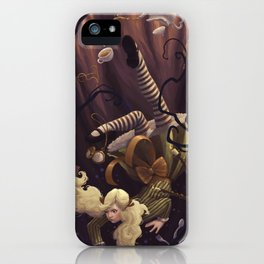 Alice Down the Rabbit Hole iPhone Case
