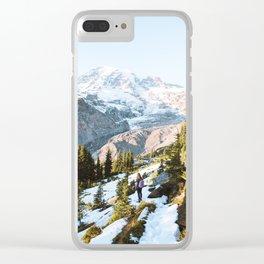 Mount Rainier Sunset Clear iPhone Case