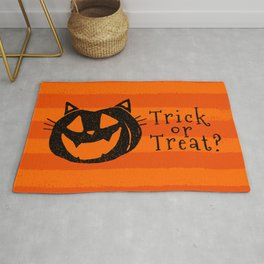 Trick or Treat? Halloween cat lady Rug