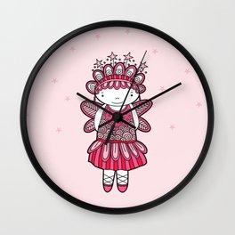 Pink Angel Wall Clock