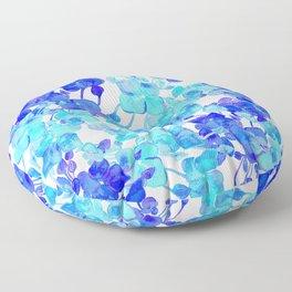Blue blooms Floor Pillow