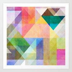 Color Blocking 1 Art Print