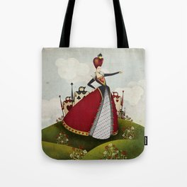 Off with their heads Queen of hearts from Alice in Wonderland Tote Bag