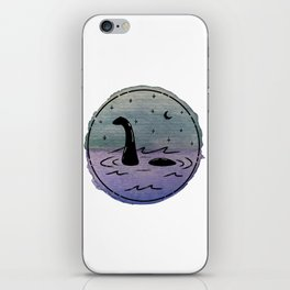 Watercolor Nessie iPhone Skin