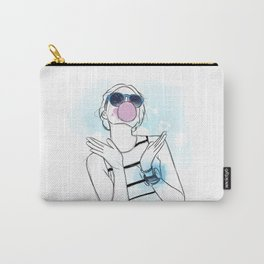 Pink and Blue Bubblegum Girl Carry-All Pouch