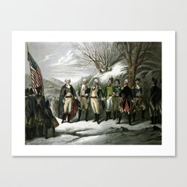 Washington and His Generals Canvas Print