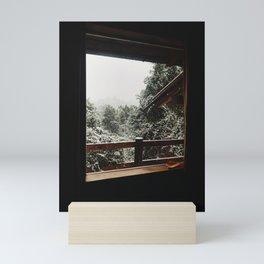 Snow from the house, Bariloche Mini Art Print