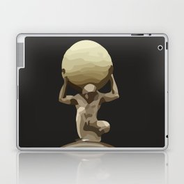 Man with Big Ball Illustration dark grey Laptop & iPad Skin