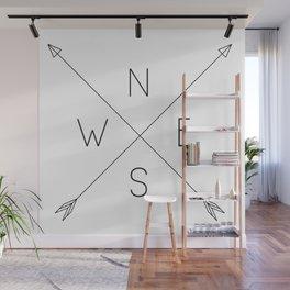 Geometric Minimal Compass Wall Mural