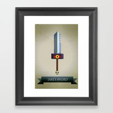 Jake's Sword Framed Art Print