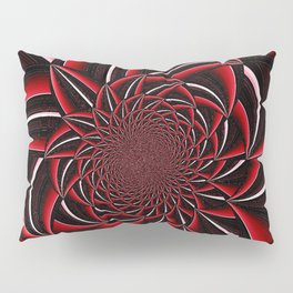 black and red abstract Pillow Sham